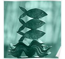 Fish sculpture Poster