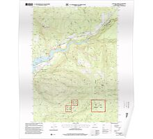 USGS Topo Map Oregon Cascade Gorge 279285 1997 24000 Poster