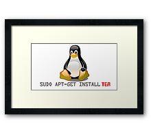 Linux - Get Install Tea Framed Print