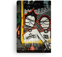 Graffiti art, Glasgow Canvas Print