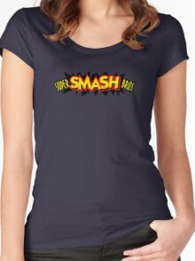 Super Smash Bros. 64 Logo Women's Fitted Scoop T-Shirt
