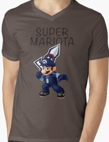 Super Mariota - #8 Marcus Mariota - Tennessee Titans Mens V-Neck T-Shirt