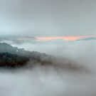 Misty Morn #2 - Merlin&#x27;s Lookout -Hill End,NSW, Australia - The HDR Experience by Philip Johnson