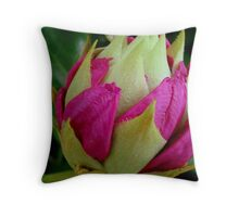 Bursting ............ (Rhododendron bud)  ^ Throw Pillow