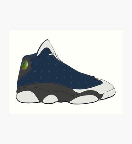 """Air Jordan XIII (13) """"Flint"""" Art Print"""