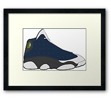 "Air Jordan XIII (13) ""Flint"" Framed Print"