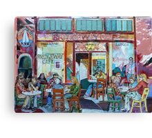 Bridgeway Cafe Canvas Print