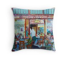 Bridgeway Cafe Throw Pillow