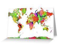 World Map 6 Greeting Card