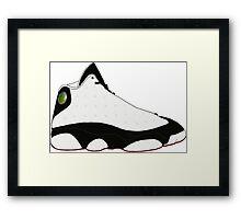 "Air Jordan XIII (13) ""He Got Game"" Framed Print"