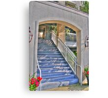 Up  the stairs Canvas Print