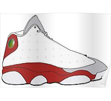 "Air Jordan XIII (13) ""Grey Toe"" Poster"