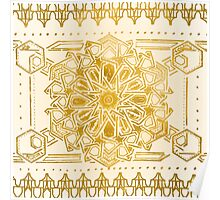 Arabic Star Gold Pattern Poster