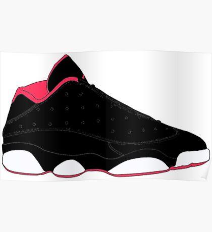 """Air Jordan XIII (13) Low """"Bred"""" Poster"""