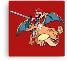 Mario attack Canvas Print