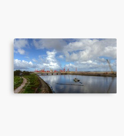 Working Infrastructure  Canvas Print