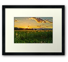 A Summer Dusk Framed Print