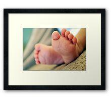Williams Ten Little Toes Framed Print