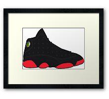 "Air Jordan XIII (13) ""Dirty Bred"" Framed Print"