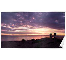 Sunset at Clan Ranald Memorial, York Peninsula, Suth Australia Poster