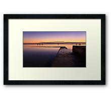Sunrise at Edithburgh Tidal pool, South Australia Framed Print