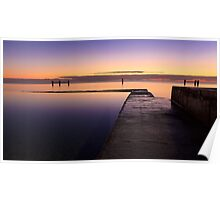 Sunrise at Edithburgh Tidal pool, South Australia Poster
