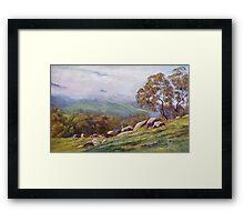 'Rising Mist - Trawool Valley' Framed Print