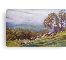 'Rising Mist - Trawool Valley' Canvas Print