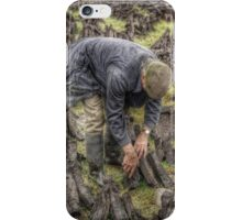 Bog worker, Ireland iPhone Case/Skin