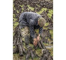 Bog worker, Ireland Photographic Print
