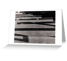 Broken Lines - Abstract Stairs Greeting Card