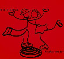it takes two to tango - red - card by 1001cards