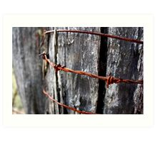 Rust in Peace - HILL END NSW Art Print