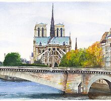Pont de la Tournelle, Paris by Dai Wynn