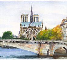 Pont de la Tournelle, Paris by Dai Wynn
