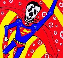 Superman Dia de los Muertos by Angelo M. Esquivel