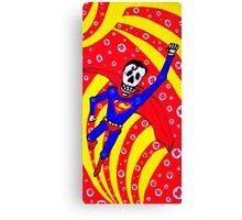 Superman Dia de los Muertos Canvas Print