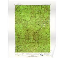 USGS Topo Map Oregon Dutchman Butte 282437 1946 62500 Poster