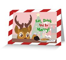 Reindeer Love Cookies Greeting Card