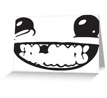 SUPER MEAT BOY FACE Greeting Card