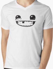 SUPER MEAT BOY FACE Mens V-Neck T-Shirt