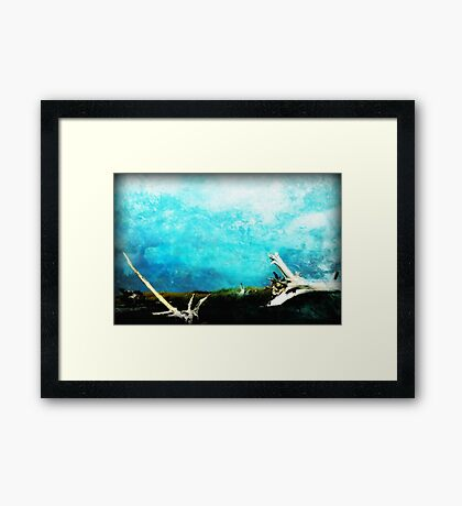 Drifting Water Color Framed Print