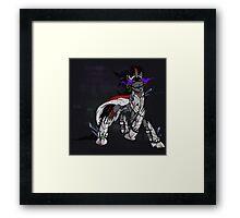 My Little Pony - MLP - FNAF - King Sombra Animatronic Framed Print