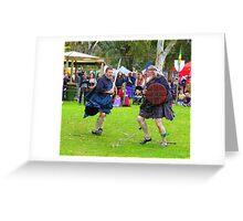 Sword dancers  Greeting Card