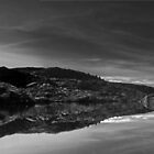 B&W Twisted lakes pano by ClaireBear