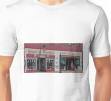Shopfronts, Chester, Illinois, USA Unisex T-Shirt