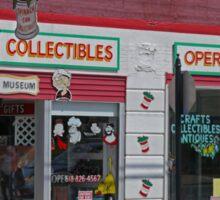 Shopfronts, Chester, Illinois, USA Sticker
