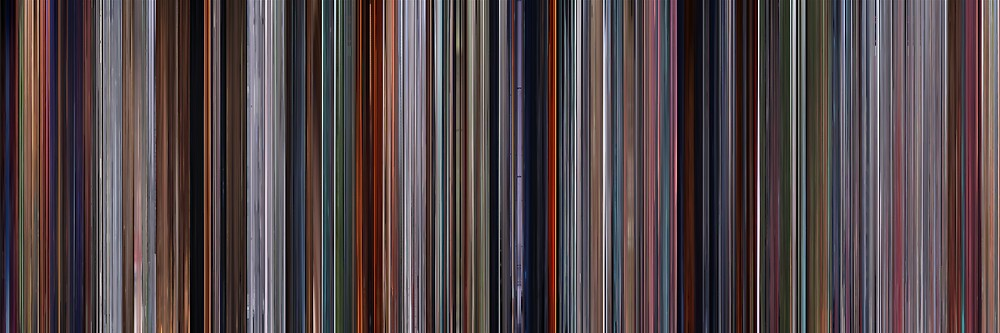 Moviebarcode: The Incredibles (2004) by moviebarcode
