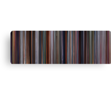 Moviebarcode: The Incredibles (2004) Canvas Print