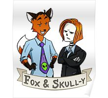 Fox and Skull-y Poster